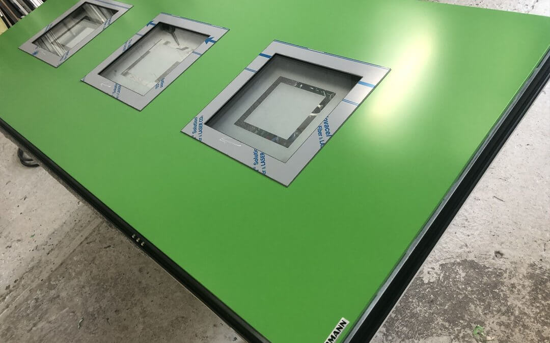 Green Entrance Hormann Door Sprayed In Factory