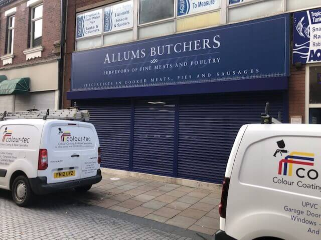 Roller Shutter Doors Sprayed