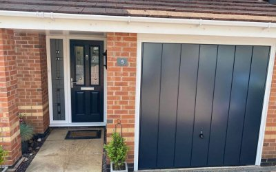 Red to Anthracite Grey Garage Door Colour Matching