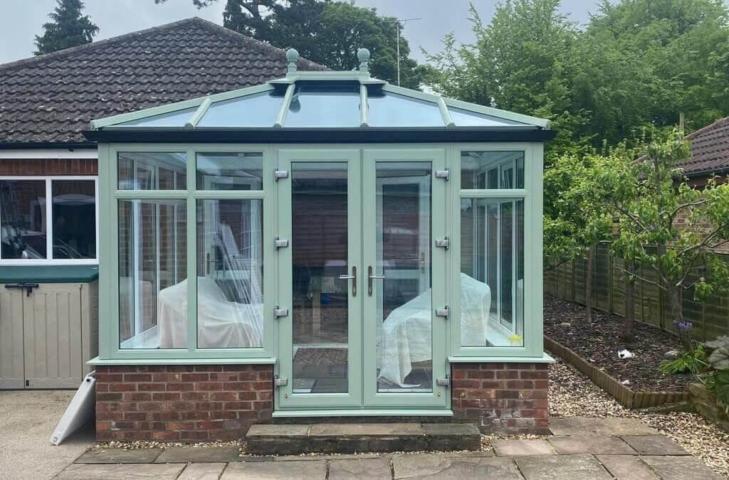 White to Chartwell Green Conservatory