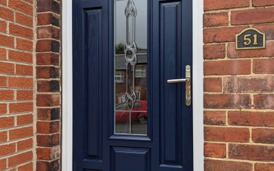 Stained Front Door sprayed to RAL 5011