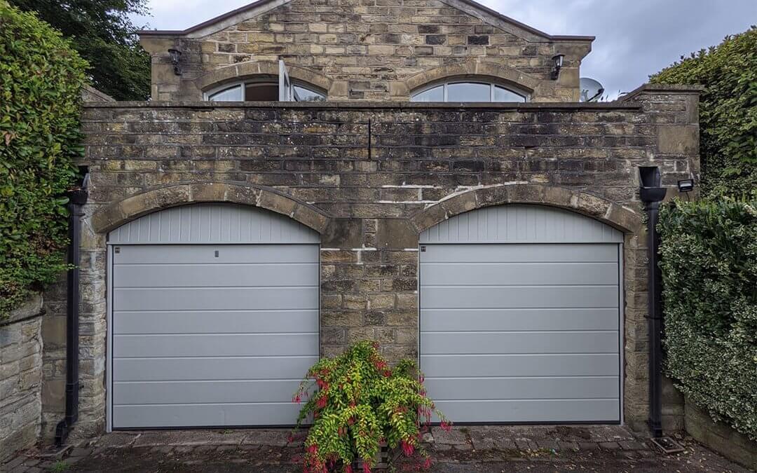 Faded Garage Door Resprayed On Site
