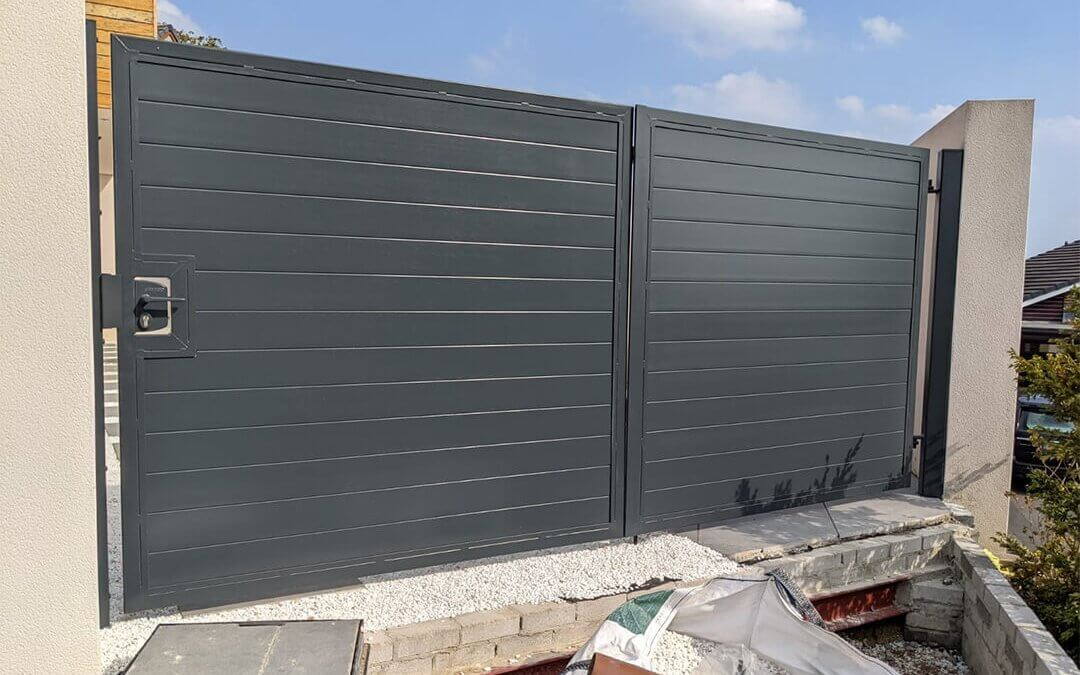 New Gate Sprayed to a Anthracite Grey Finish