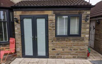 White uPVC Windows & Doors to Anthracite Grey